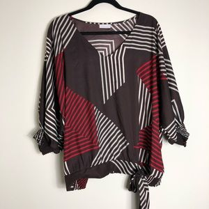 Graphic V-Neck blouse from New York and Company